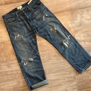 Current/Elliot Distressed Boyfriend Jeans